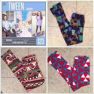 NEW! LuLaRoe Holiday Leggings Bundle: TWEEN